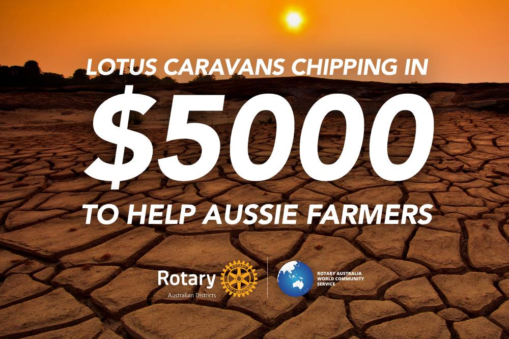 Lotus Caravans chipping in to help Aussie farmers