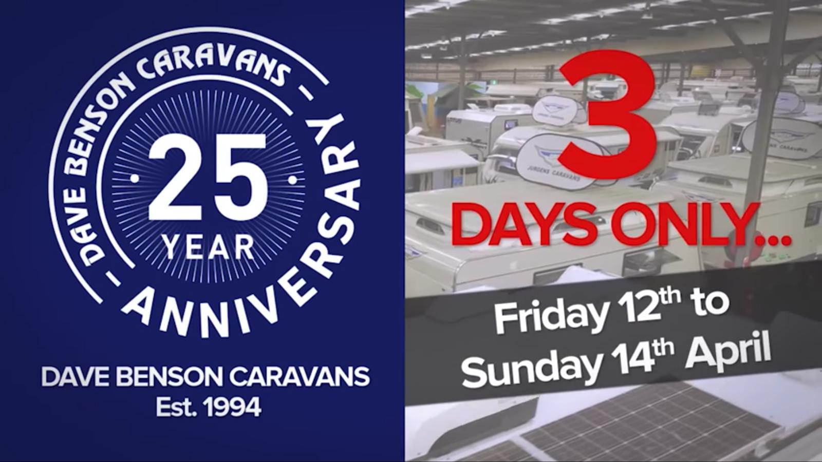 Dave Benson Caravans 25th Anniversary Sale