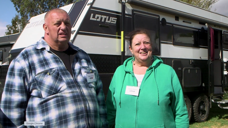 Lotus Caravan Owners: Adam and Lauren Martin