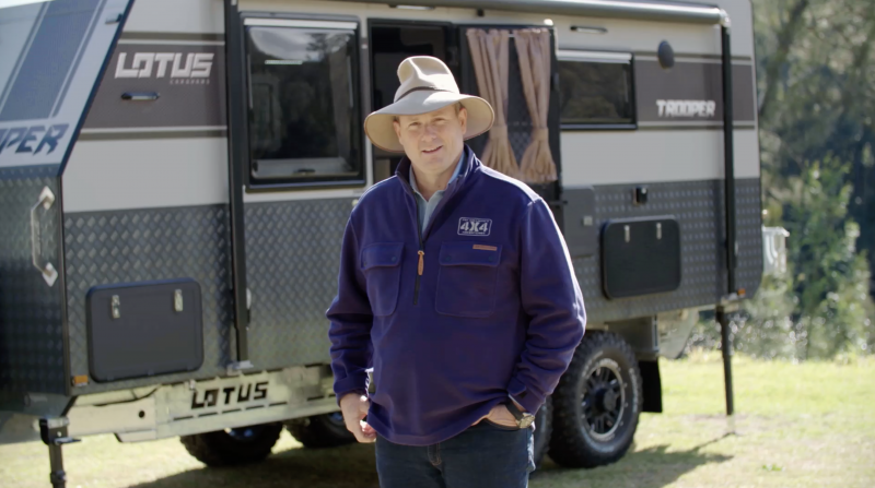 Pat Callinan Reviews the Lotus Caravans Trooper