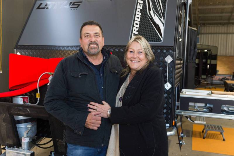 Lotus Caravans give away a luxury Trooper to couple in need